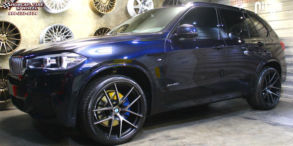 Bmw X5 Niche Targa H14 Wheels Black Amp Machined Dark Tint Matte Clear