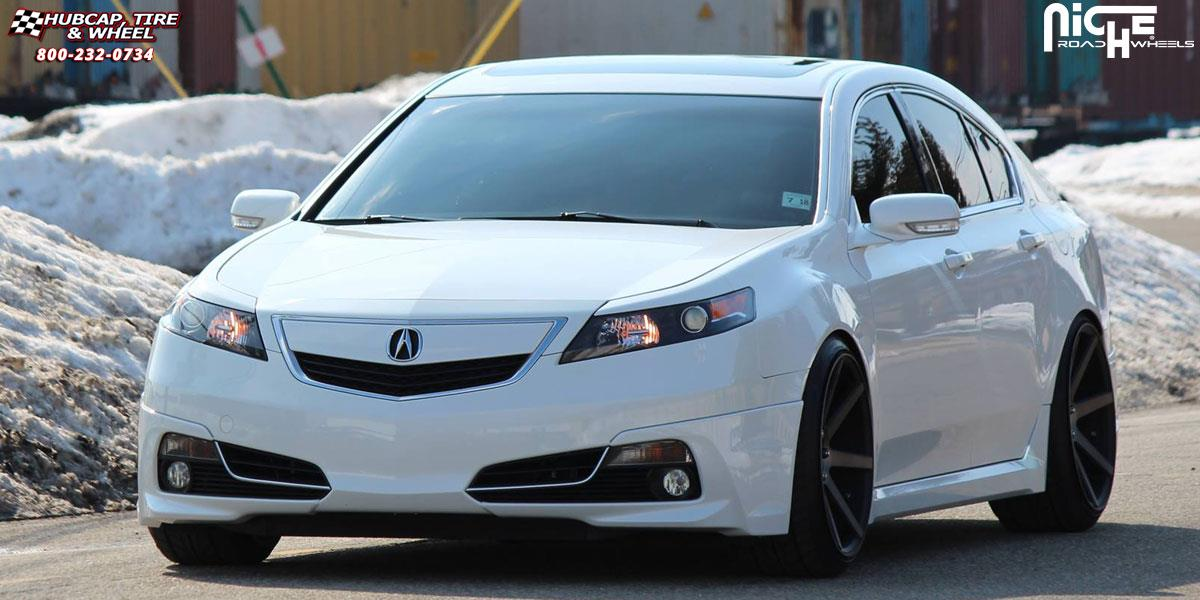 Acura TL Niche Verona M Wheels Black Machined With Dark Tint - Tires for 2018 acura tl