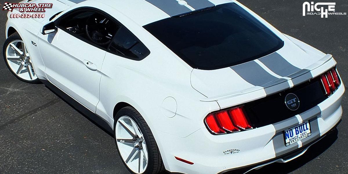 Ford Mustang Niche Verona M151 Wheels Gloss White Amp Machined