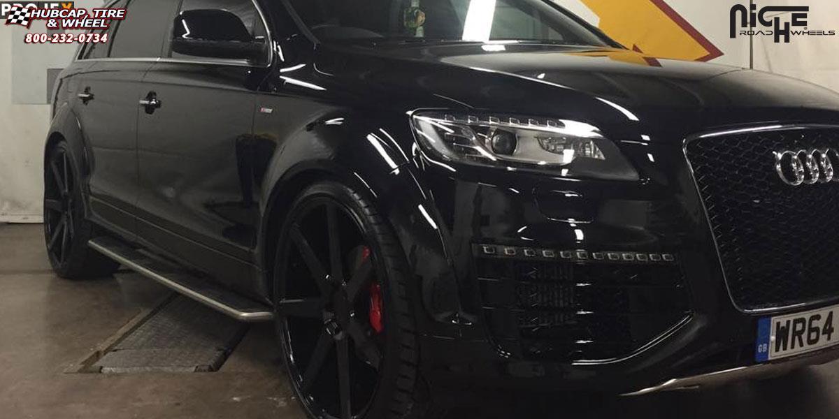 Audi Q7 Niche Verona - M150 Wheels Custom Matte Black Paint