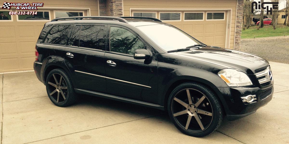 Mercedes Benz Gl Niche Verona M150 Wheels Black Amp Machined With Dark Tint
