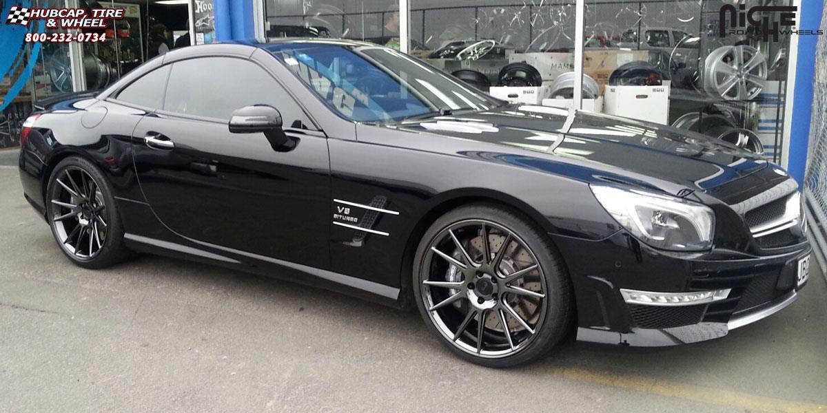 Mercedes Benz Sl63 Amg Niche Vicenza M154 Wheels Black Chrome