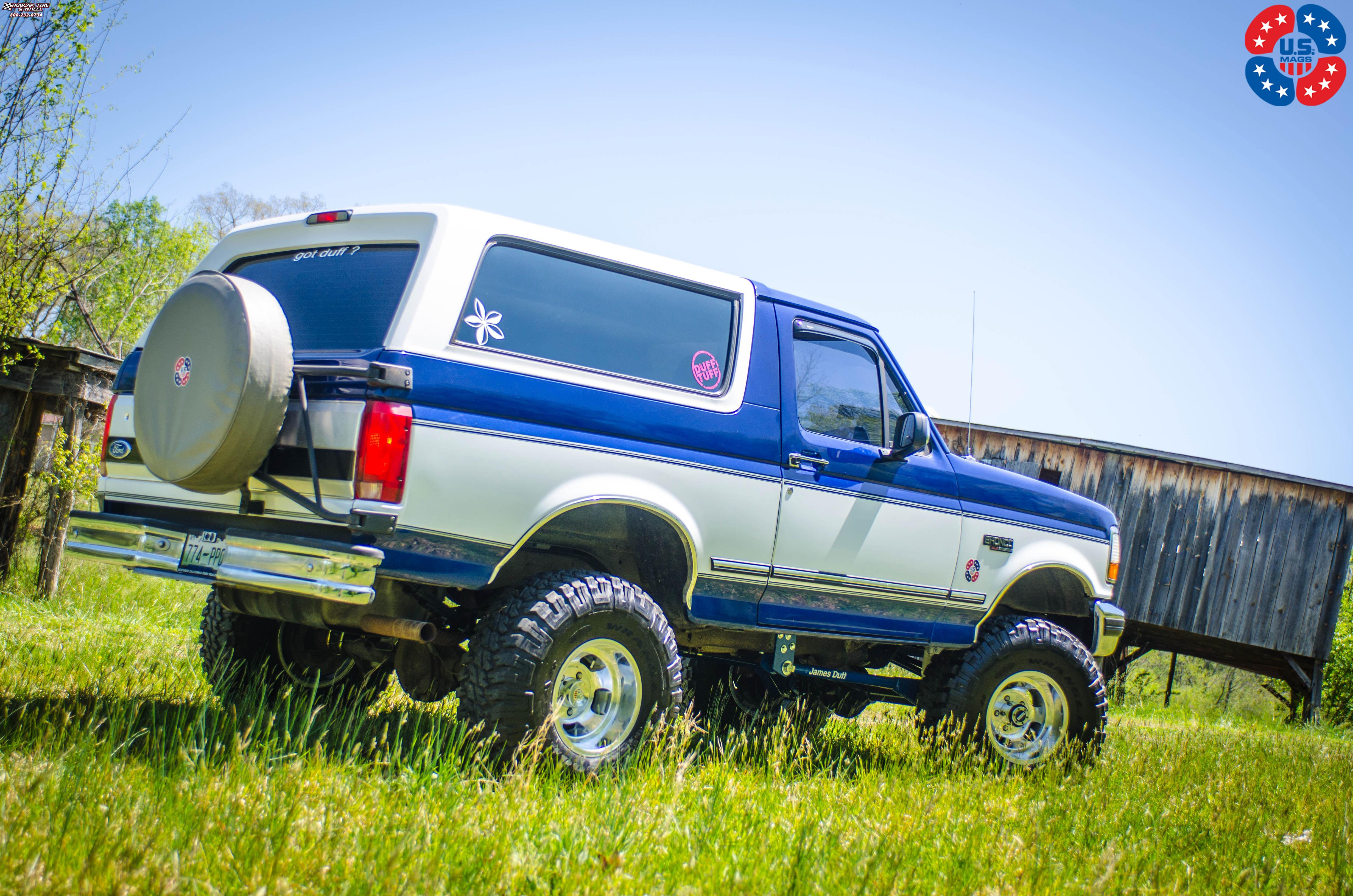 Ford bronco us mags indy u101 truck 15x10 polished wheels and rims