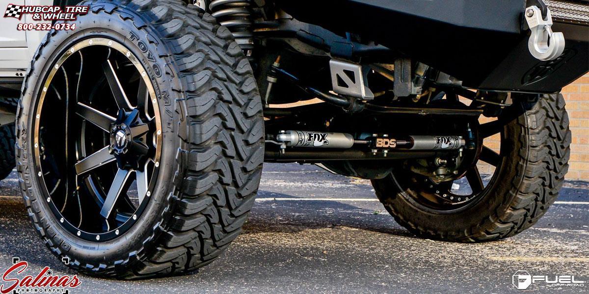 Dodge Ram 3500 Fuel Maverick Dually D262 24X12 Wheels Rims 325