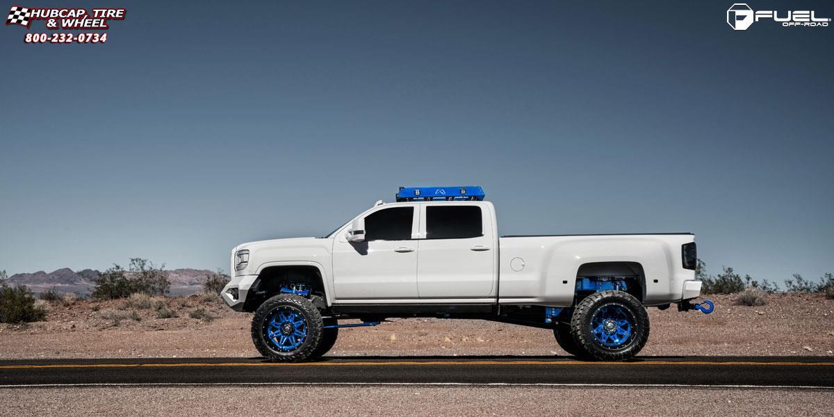GMC Sierra 2500 HD Fuel Hostage II D232 Wheels Peeka Blue ...