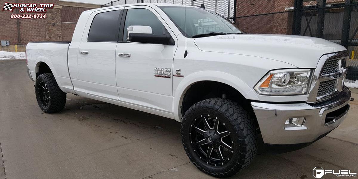 Dodge Ram 3500 Fuel Maverick D538 Wheels Black Amp Milled