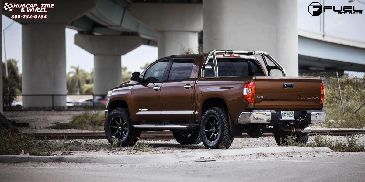 Toyota Tundra Fuel Coupler D556 Wheels Black & Machined ...