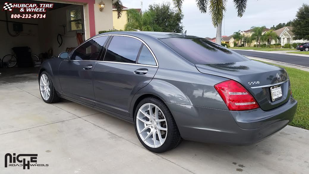 Mercedes benz s550 niche targa m131 wheels silver machined for Mercedes benz e350 tire size