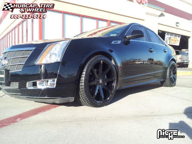 Cadillac Cts Dub Push S110 Wheels Gloss Black