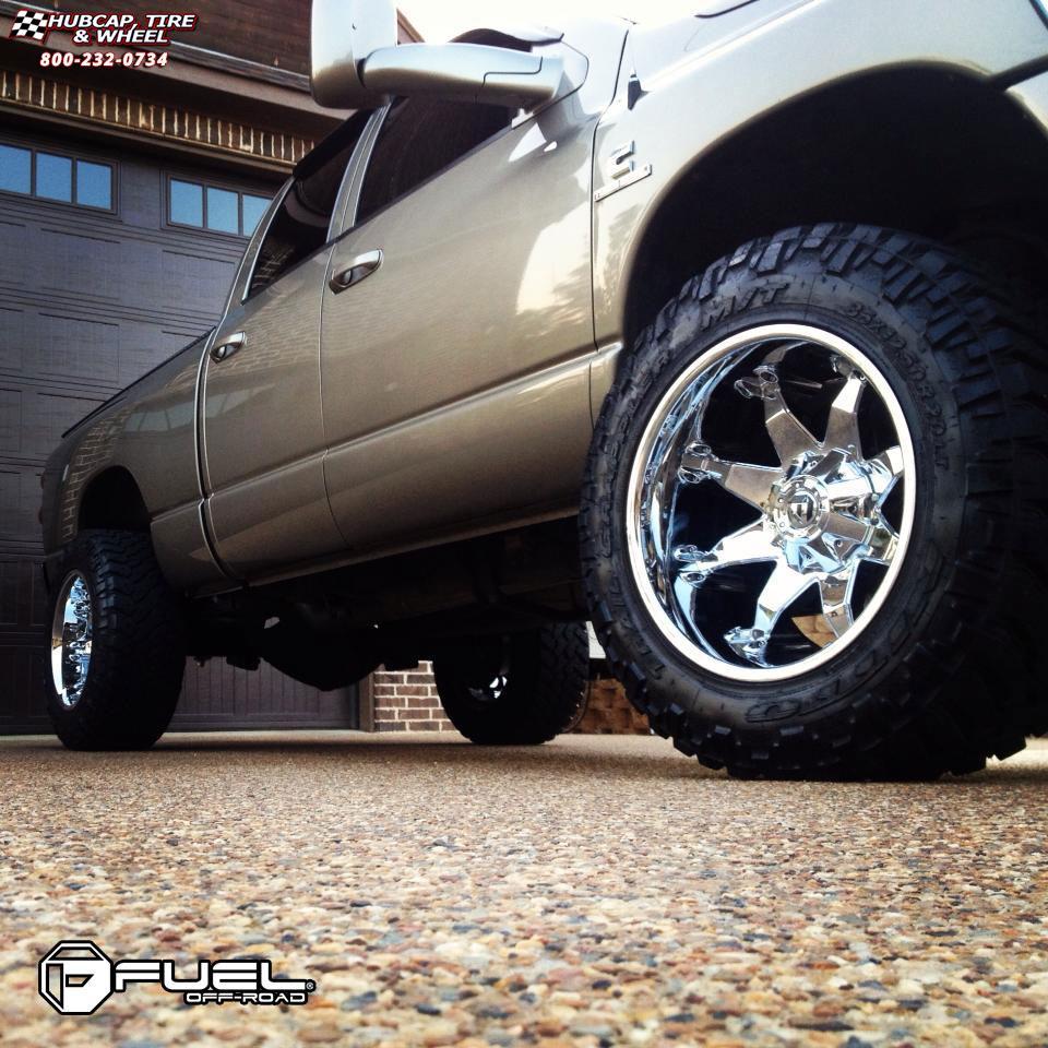 Dodge ram 2500 fuel octane d508 0x0 chrome wheels and rims