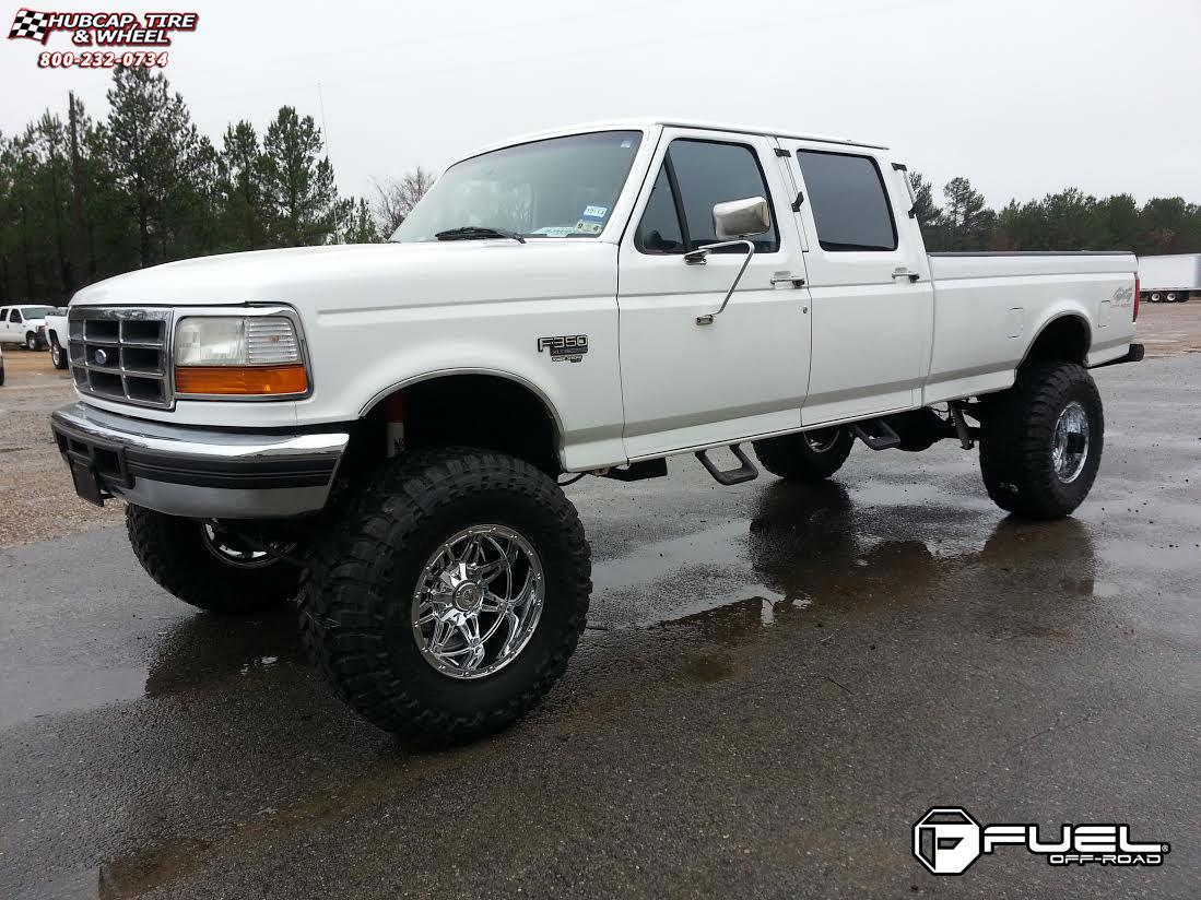 Ford f 350 fuel hostage d530 18x12 chrome wheels and rims