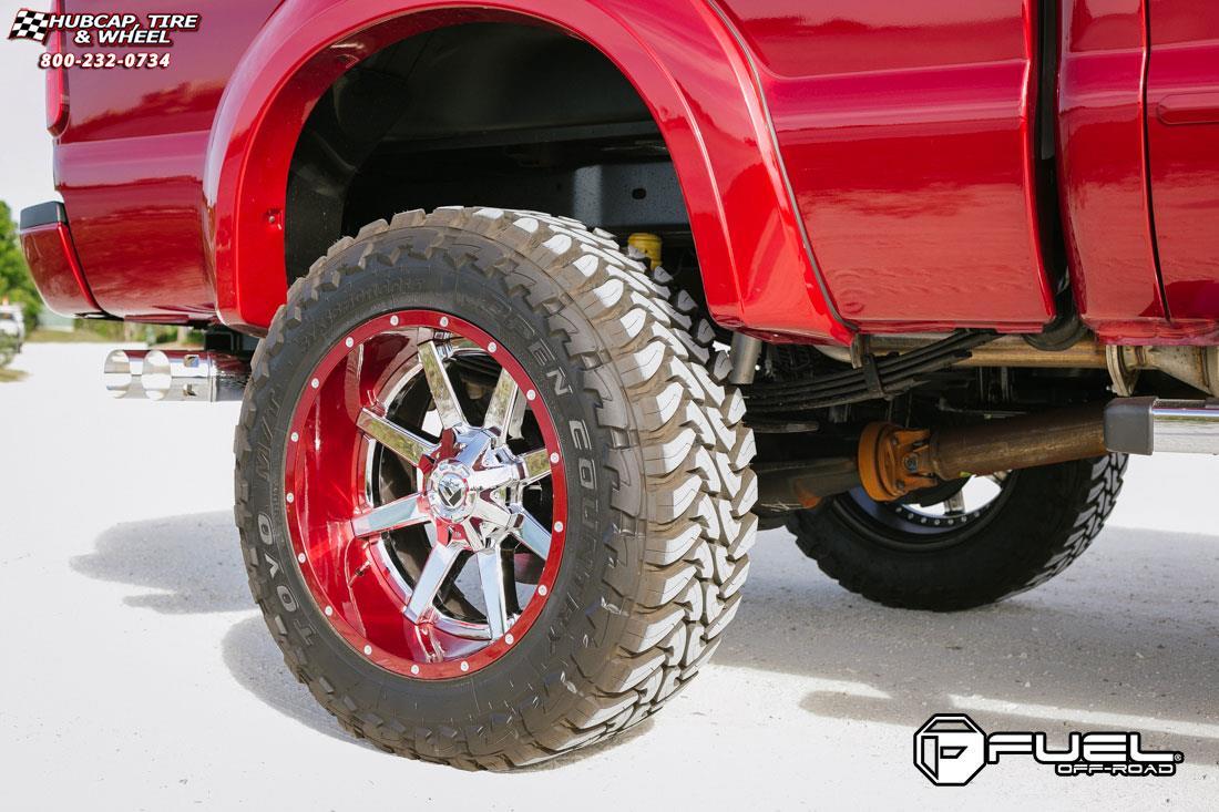 Ford F 250 Super Duty Fuel Maverick D260 Wheels Chrome With Gloss Black Lip