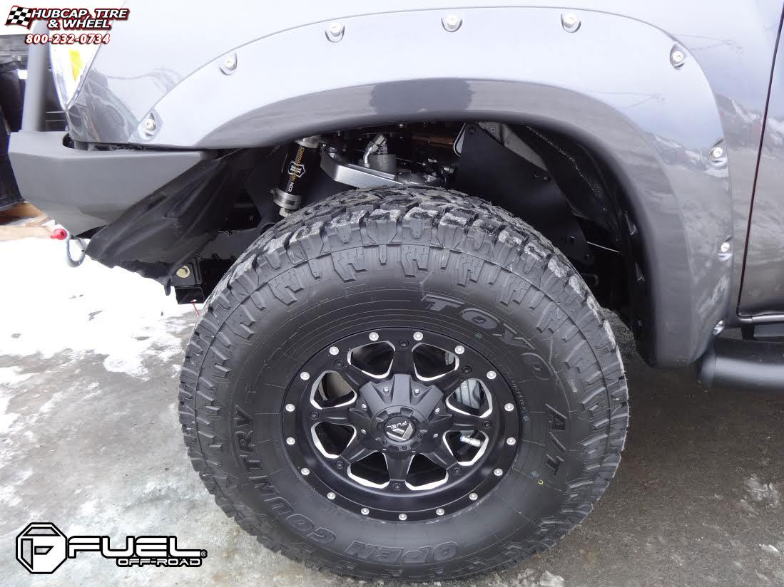 Toyota Tacoma Fuel Boost D534 Wheels Matte Black & Milled