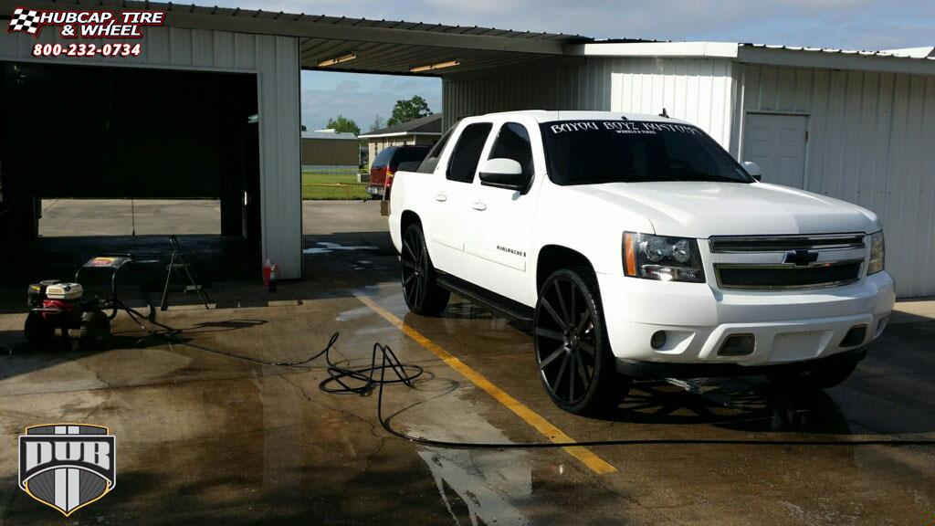 Chevrolet Avalanche Dub Shot Calla - S121 Wheels Black ...