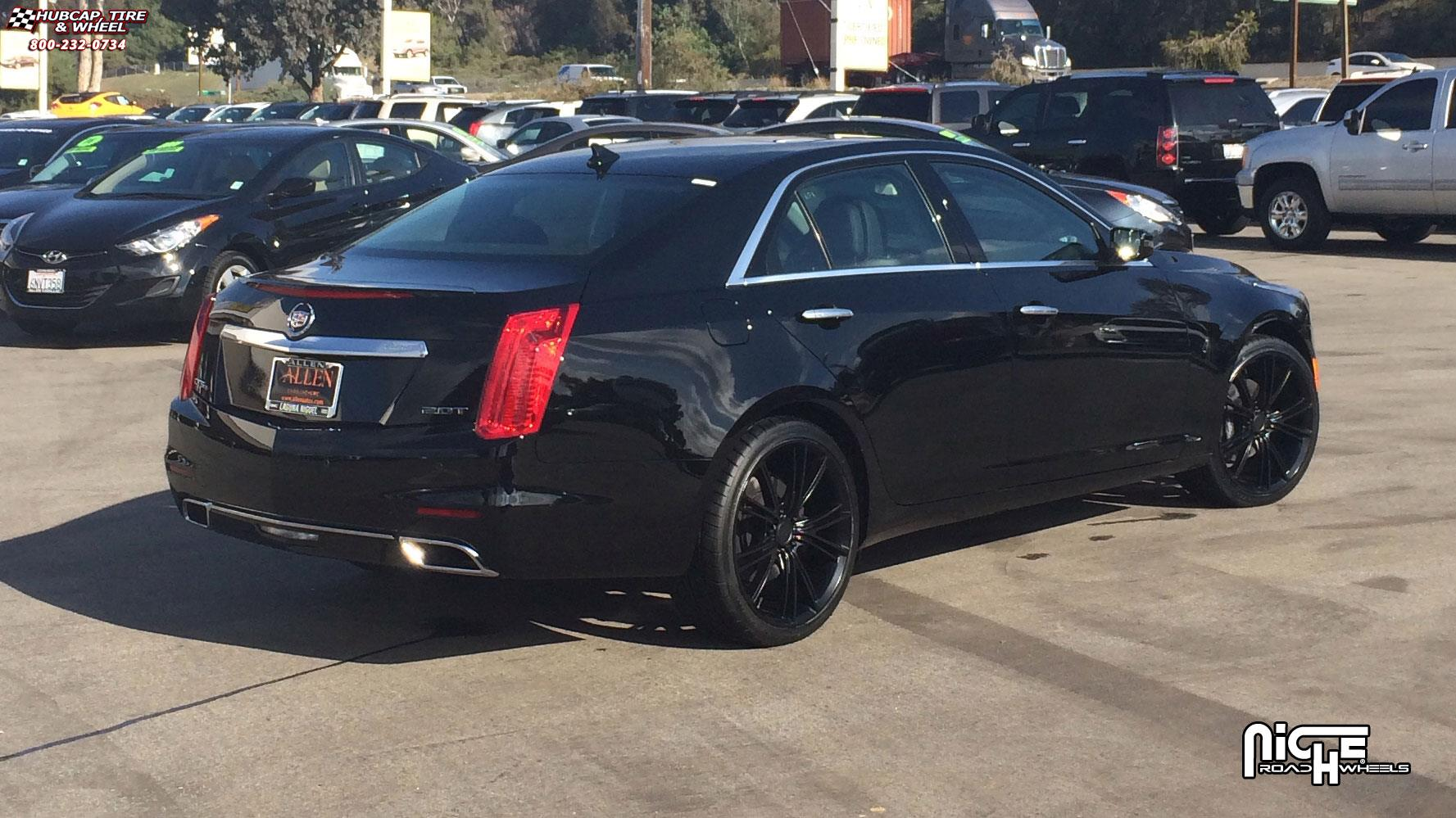 Cadillac cts 4 niche ritz m144 20x9 satin black wheels and rims