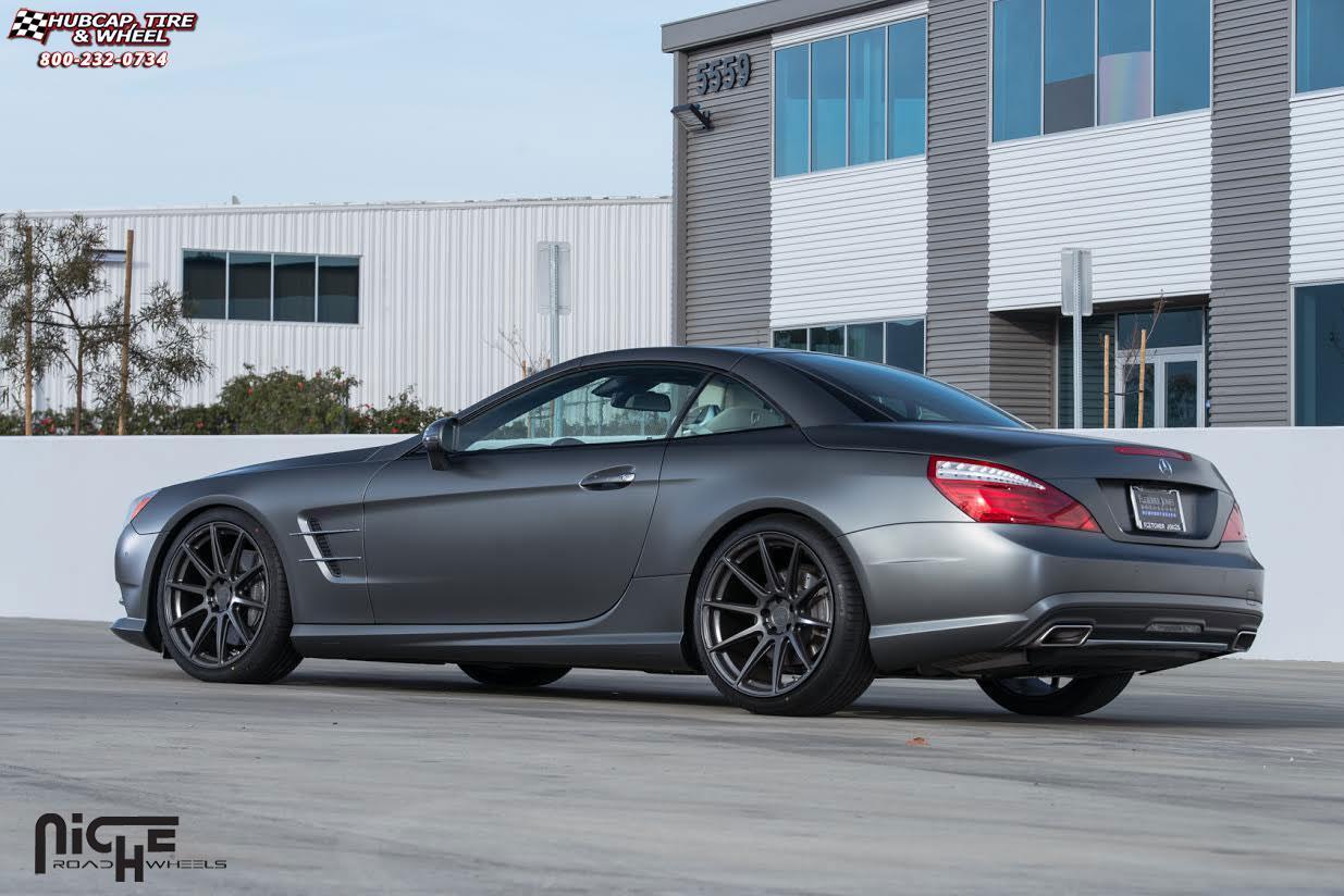 mercedes benz sl550 niche essen m147 wheels matte black rh hubcap tire wheel com