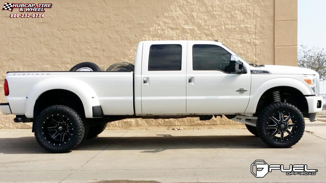 Ford F  Fuel Maverick D Wheels Black Milled