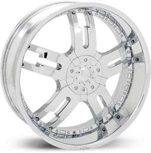 18x7.5 Starr Dominator Chrome RWD