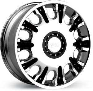 20x8.5 Status Marshal Chrome / Black Inserts FWD