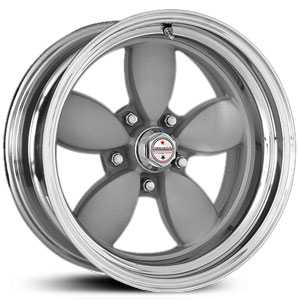 American Racing Vintage VN402 Classic 200S 2 Piece  Wheels Painted Center / Polished Rim