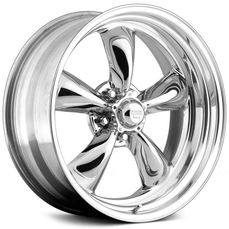 American Racing Vintage VN405 Torq Thrust II - 2 Piece  Wheels Chrome Center / Polished Rim