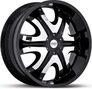 20x9 Status Donk Black / Machined Inserts MID