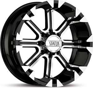 20x10 Status Cannon 813 Black / Machined Face REV