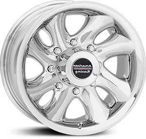15x8 American Racing Ventura 8 Lug Polished MID