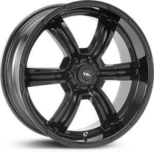 20x8.5 American Racing Trench AR320 Glossy Blk MID