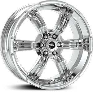 16x8 American Racing Trench AR620 Chrome RWD