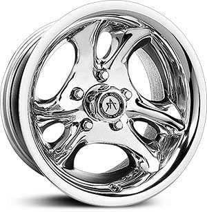 16x8 American Racing AR136 Ventura Polished RWD