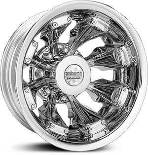 16x6 American Racing D-8 Dually Chrome HPO