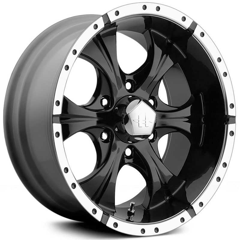 17x9 Helo HE791 Maxx Gloss Black / Machined Lip RWD