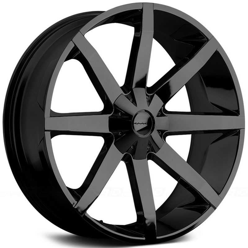 KMC 651 Slide  Wheels Gloss Black