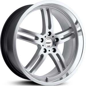 17x8 TSW Indy 500 Hyper Silver/Machine Cut Lip HPO