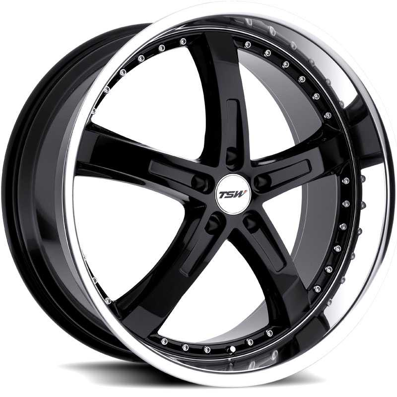 18x9.5 TSW Jarama Gloss Black/Mirror Cut Lip HPO