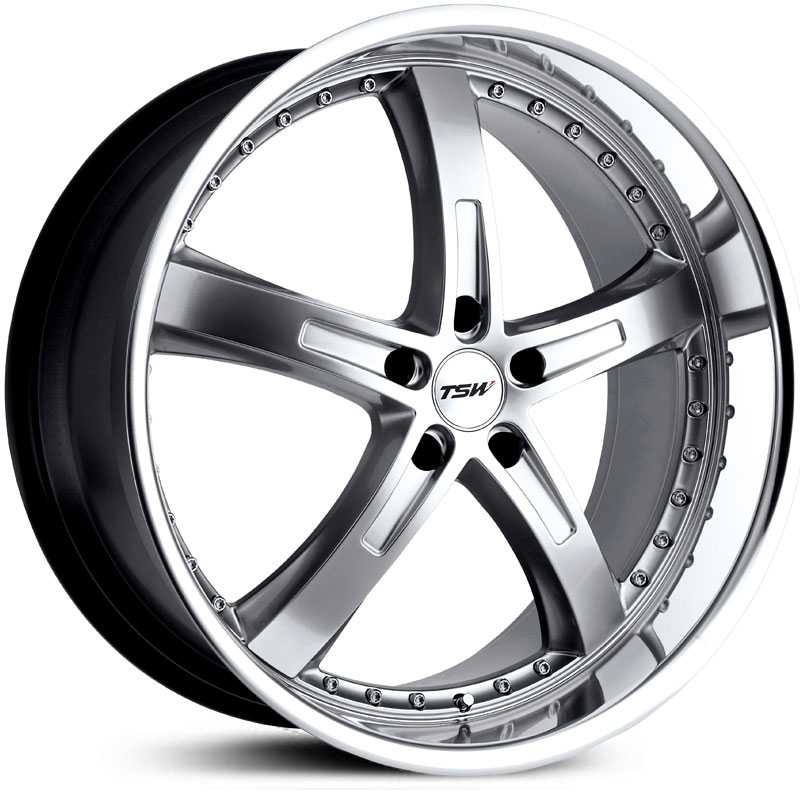 TSW Jarama  Wheels Hyper Silver w/ Mirror Lip