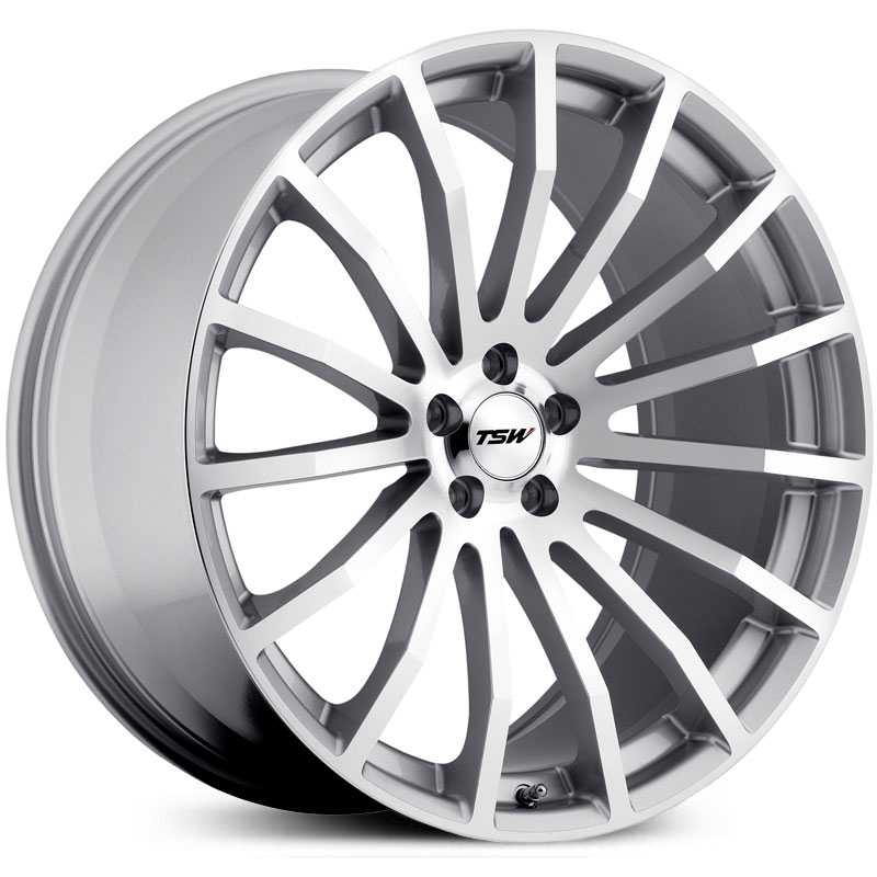 TSW Mallory  Wheels Hyper Silver / Mirror Cut Face 5 Lug