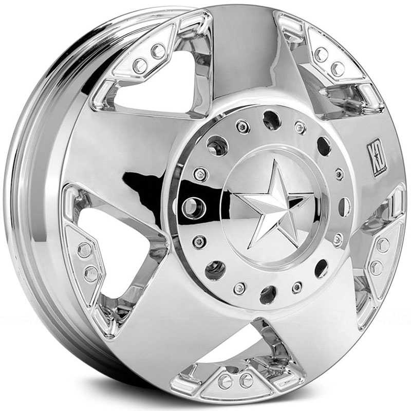 16x6 XD Series Rockstar Dually Front Chrome HPO