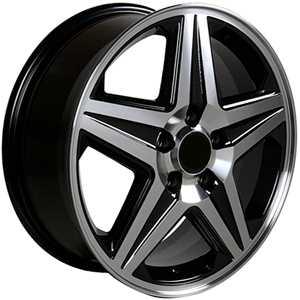 Chevy Impala Montecarlo Black Wheels Rims