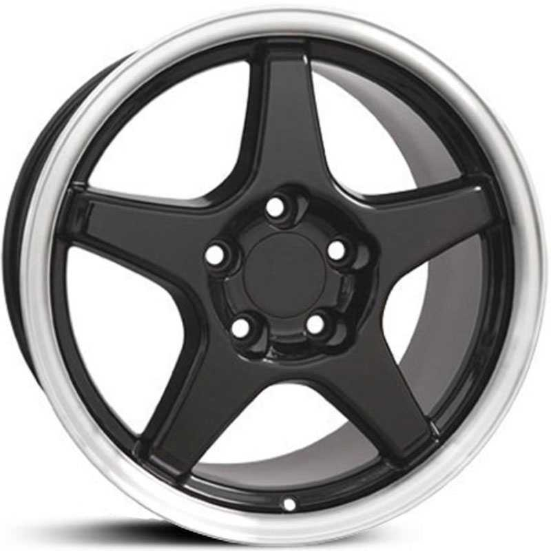 Corvette ZR1 Style (CV01)  Wheels Machined Black