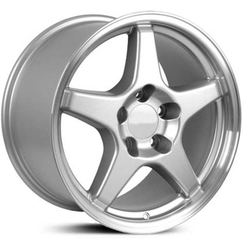 Corvette ZR1 Style (CV01)  Wheels Machined Silver