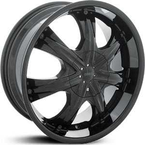 22x9 Shooz 009 Black RWD