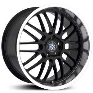 Beyern Mesh  Wheels Gloss Black w/ Mirror Lip