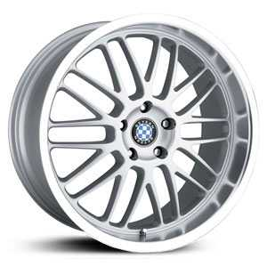 Beyern Mesh  Wheels Silver w/ Mirror Lip