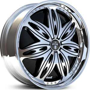 Dub Ravenous Spinner  Wheels Chrome