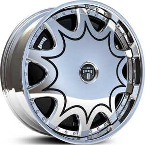 Dub Stashola Spinner  Wheels Chrome