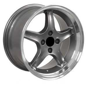 17X8 Ford 98 Cobra 4L R Gunmetal Deep Machined Lip