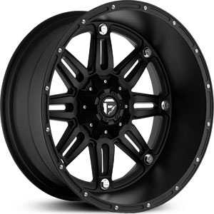 Fuel D531 Hostage  Wheels Matte Black Deep Lip