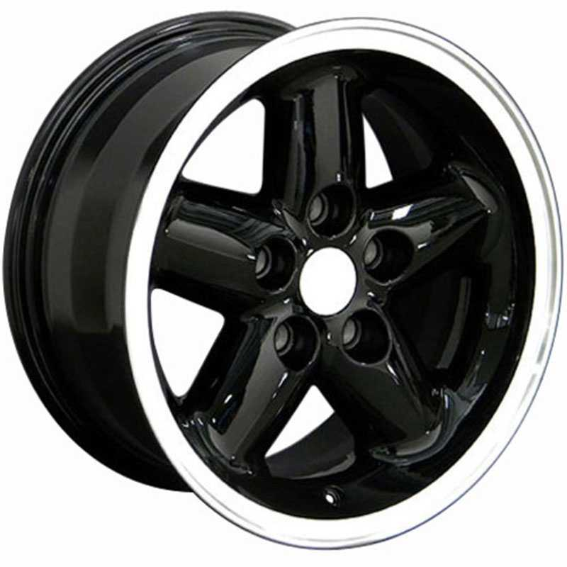 Jeep Wrangler (JP07)  Wheels Black Machined Lip